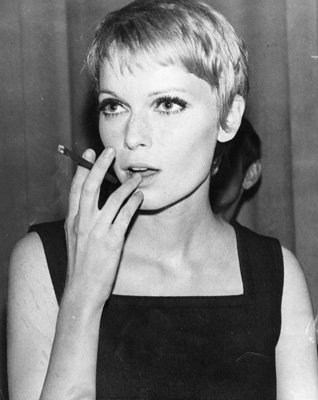 Rosemary's Baby Mia Farrow Hair Cut http://straightfromthebullet.com/2013/03/03/cropped-beauty/