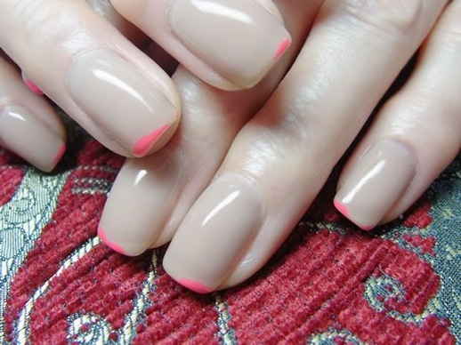 LEFASHIONBLOGNAILCANDYNUDEHOTPINKTIPFRENCHMANICURE3
